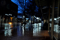 Rainy Morning on the Charlottesville (VA) Downtown Mall